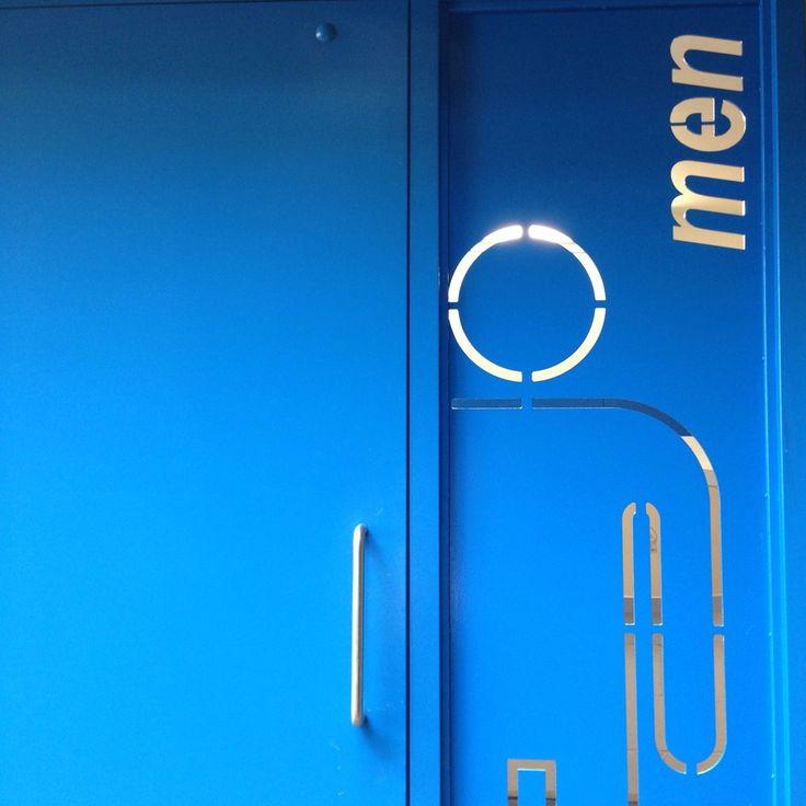 Carscadden Stokes McDonald Architects WEST VANCOUVER EAGLE HARBOUR park washrooms blue signage