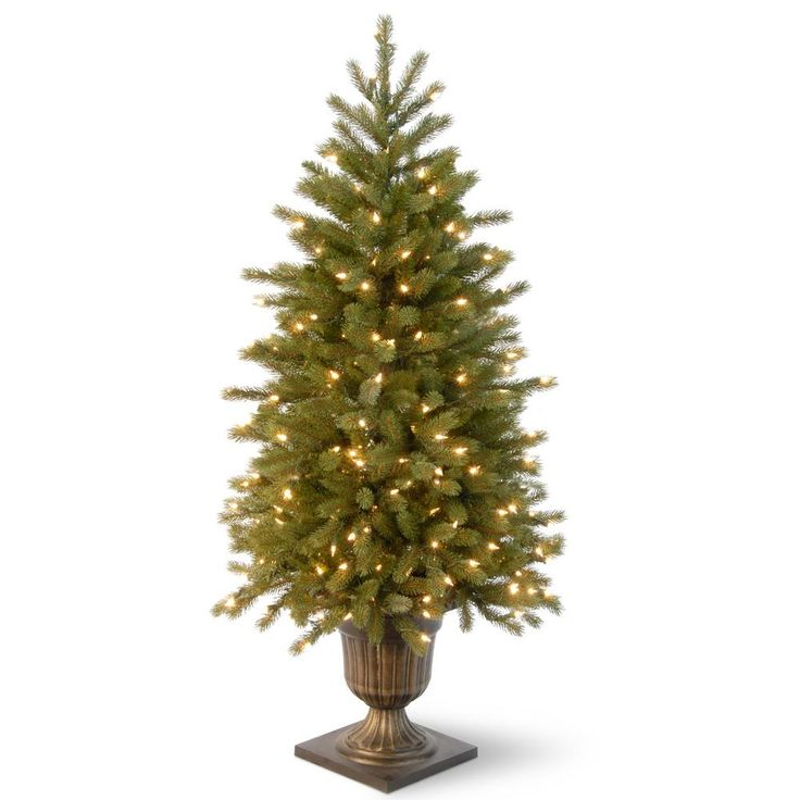 National Tree Company 4 ft. Jersey Fraser Fir Entrance Artificial Christmas Tree with Clear Lights