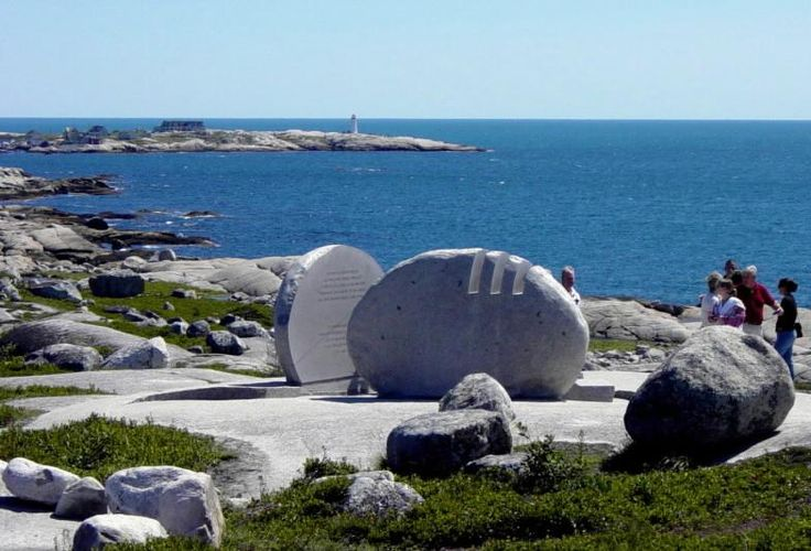 SwissAir Flight 111 memorial, Nova Scotia.  Sobering. July 2012