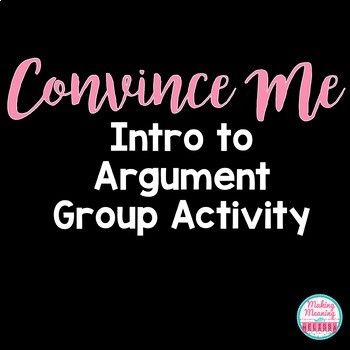 Need a way into Ethos, Logos, and Pathos? In this quick group activity, students work together to convince each other who had the best argument. Then, after you teach Ethos, Logos, and Pathos, they revisit their group arguments and revise them. This activity is part of two larger