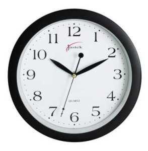 Jastek Round Clock 30cm Black