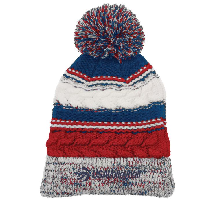 USA Volleyball Pom Pom Beanie | USA Volleyball Shop