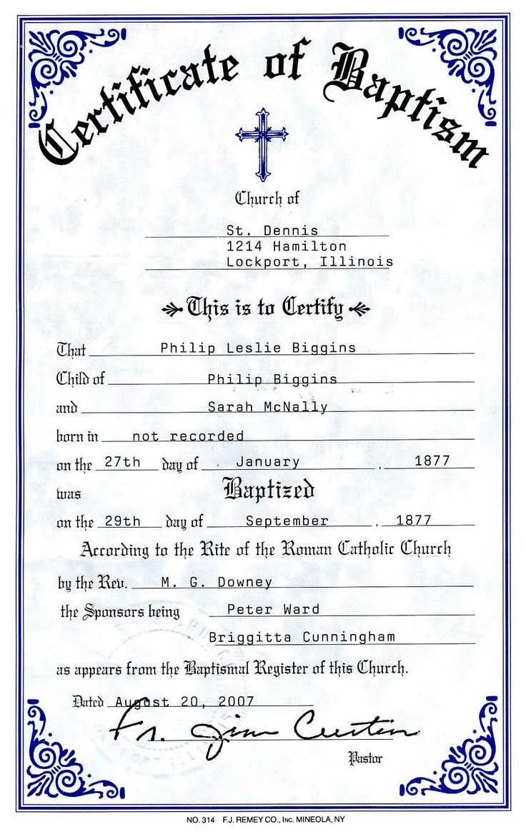 Catholic Baptism Certificate Yahoo Image Search Results