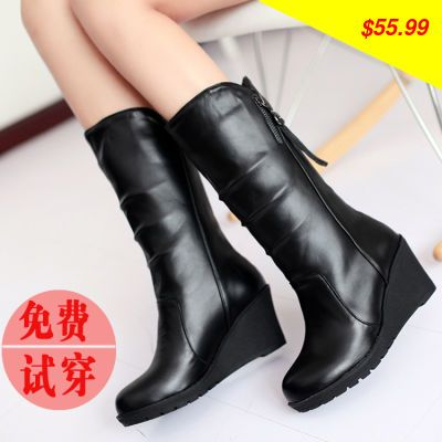 This is nice, check it out! Spring and autumn flat medium-leg wedges boots in with the boots female thickening snow boots plus size cotton-padded shoes - US $55.99 http://superbagsshoes.com/products/spring-and-autumn-flat-medium-leg-wedges-boots-in-with-the-boots-female-thickening-snow-boots-plus-size-cotton-padded-shoes/