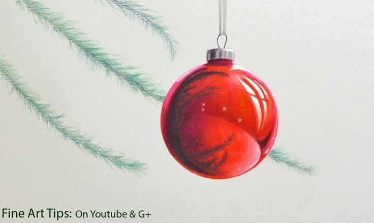 How to Draw a Christmas Sphere - Red Sphere  #art #drawing #FineArtTips #sphere #Christmas #tutorial  Take a look to my book here: http://www.artistleonardo.com/#!ebooks-english/cswd
