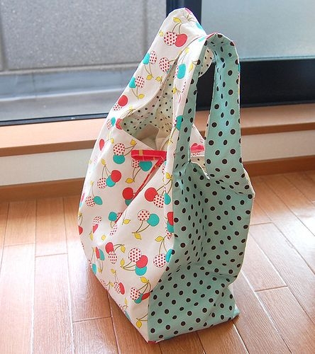 Make your own grocery bags... way cuter than the cheap-o ones in the stores!