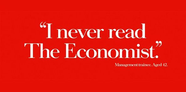 I love the Economist brand - great writing, intelligence shining through, instantly recognisable.