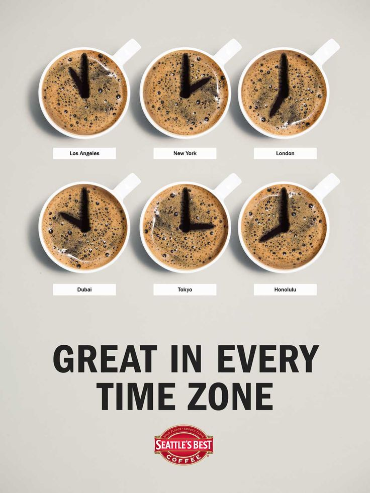 Morning! :) Great in every time zone -> Seattle's Best Coffee #Advertising