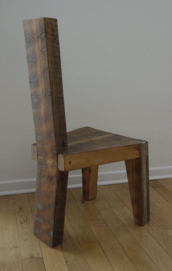 Silla de comedor de madera reciclada. Silla por TicinoDesign