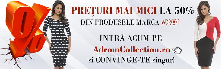 Începând de astăzi, avem prețuri mai mici la 50% dintre produsele marca Adrom Collection. Intră și comandă acum: 👉 www.AdromCollection.ro 👈
