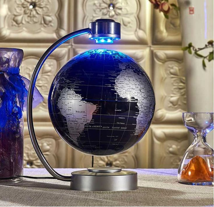 "Magnetic Levitation Floating World Map Globe Best Offer. Best price Magnetic Levitation Floating World Map Globe, 8"" Rotating Planet Earth Globe Ball with LED Desk Display Stand - Magnetic Levitation Floating World Map Globe #Magnetic #Levitation #Floating #World #Map #Globe"