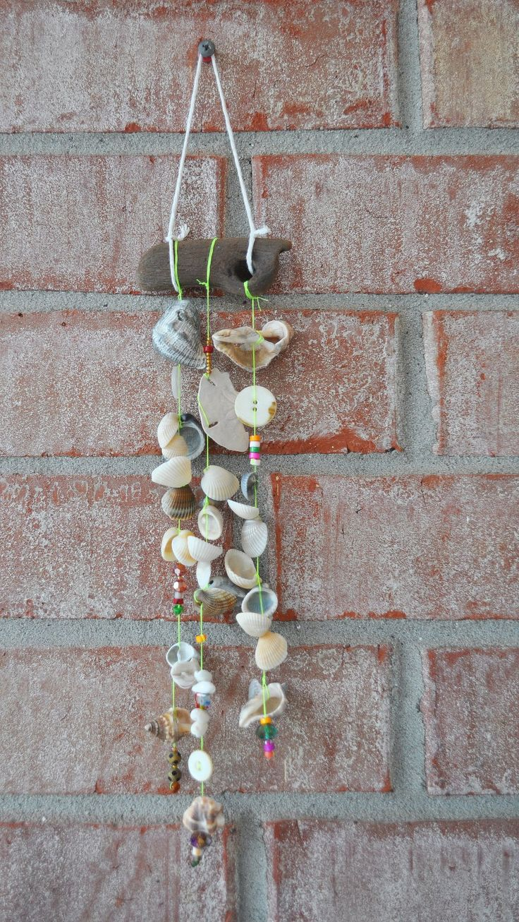 12 best seashell windchimes images on pinterest for Shell wind chimes diy