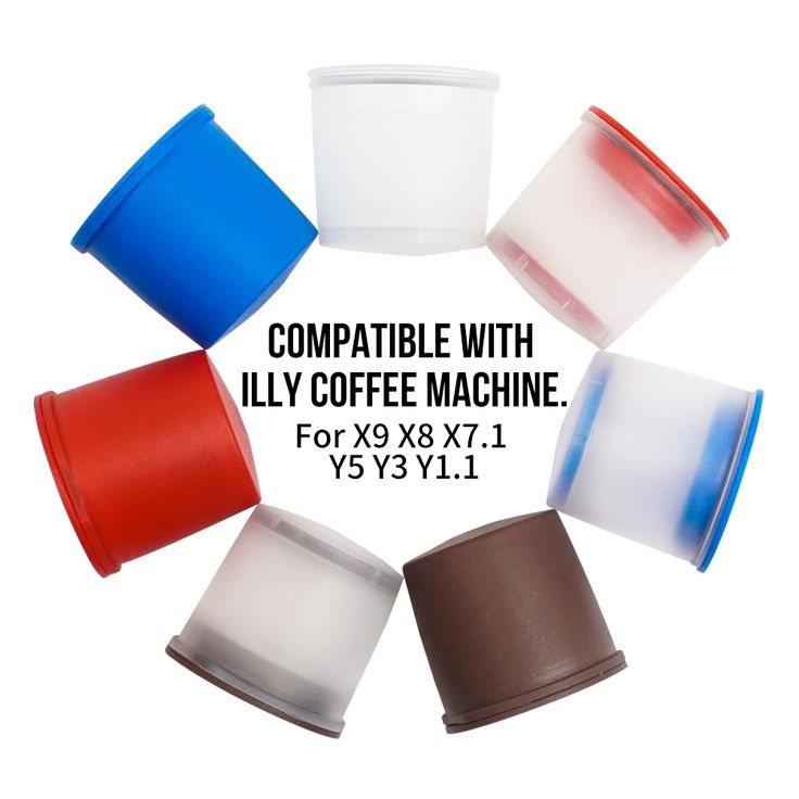 3pcs/set Keuring illy iperEspresso Filter X9 X8 X7 Y5 Y3 Refillable coffee Capsule Reusable K-cup Filter for Keurig2.0 & 1.0
