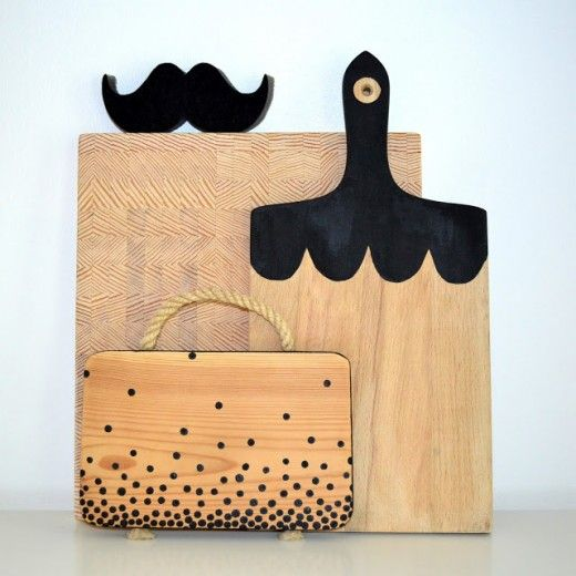 DIY painted cuttingboards, by Projektila