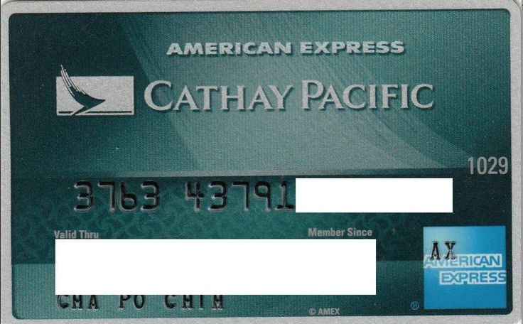 Cathay Pacific (American Express, Taiwan (Republic of China)) Col:TW-AE-0001,QRA:QRA-TW-1