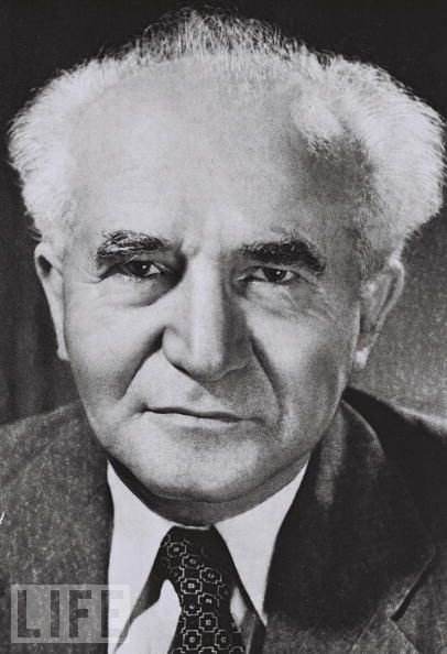 Israel At 60: The Birth Of A Nation  TEL AVIV, ISRAEL - SEPTEMBER 1, 1949: David Ben Gurion, the first Prime Minister of the Jewish State, on September 1, 1949 in Tel Aviv, Israel. (Photo by David Eldan/GPO via Getty Images)