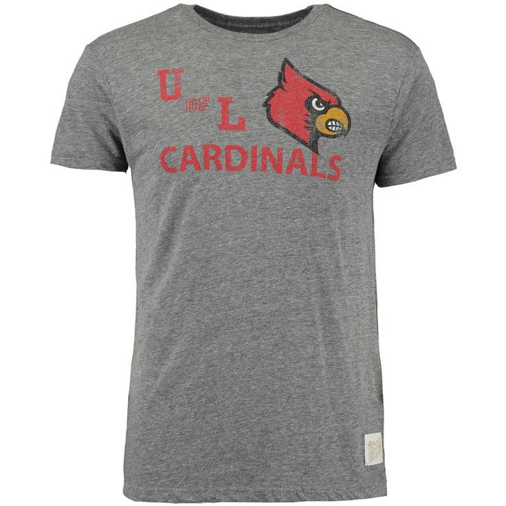Louisville Cardinals Original Retro Brand Vintage U of L Tri-Blend T-Shirt - Heather Gray