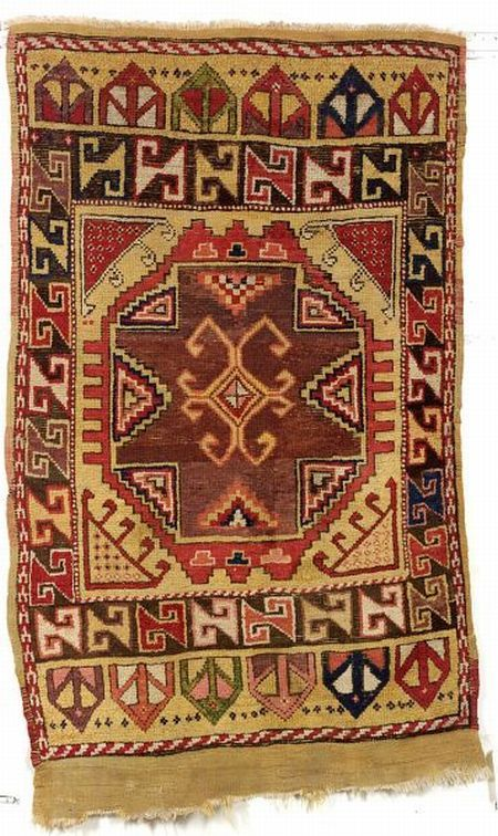 Konya Rug, Central Anatolia, second half 19th century, 5 ft. 6 in. x 3 ft. 6 in.   Skinner Auctioneers Sale 2276