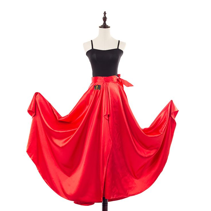 >> Click to Buy << 2017 New Latin Dance Skirt Hip Scarf Red Satin One Size Cape Salsa Rumba Ballroom Competition Cow Boy Skirt For Women DW1126 #Affiliate