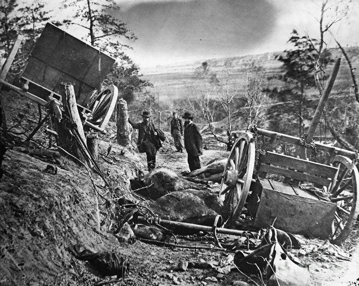 War-torn  landscape in a primitive transport society.   civil war photography | Civil War: Battlefield Photograph by Granger - Civil War: Battlefield ...