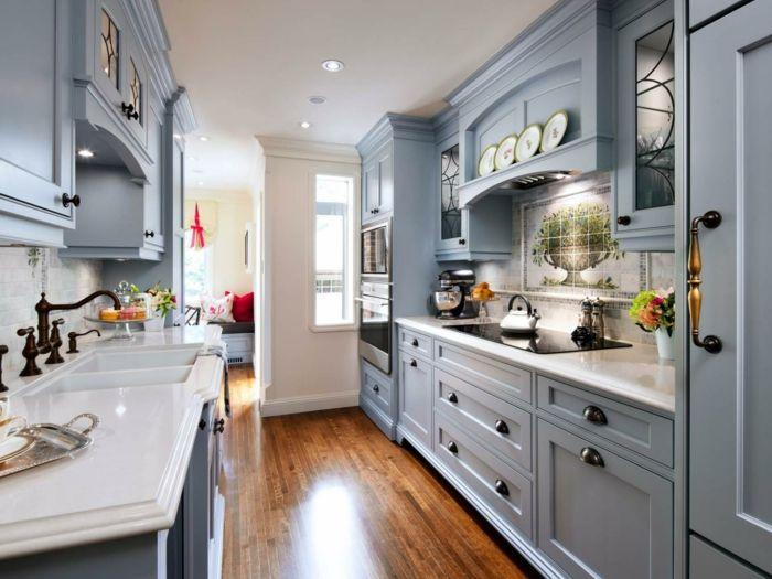 k chen im landhausstil kleine k che einrichten graue. Black Bedroom Furniture Sets. Home Design Ideas