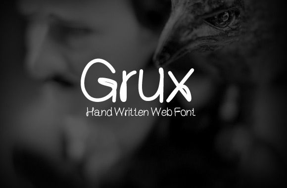 Grux – Hand Written Web Font