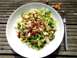 Day 1 #greenvegchallenge Its amazing how different a salad can taste when you chop the leaves up into small strips