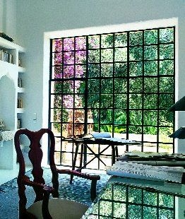 huge windows!  With bars. :(