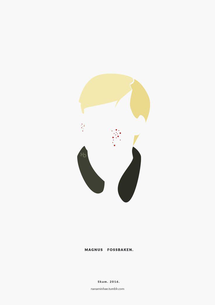 Magnus Fossbaken. SKAM. 2016. __________minimal project - (Part Twelve) Source: nanaminhae.tumblr.com (please always credit me!) Buy it here: REDBUBBLE and my IG is brbrgraphics