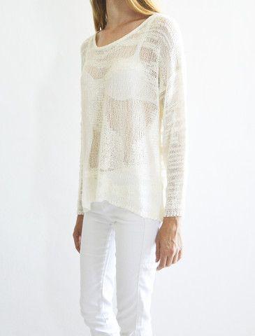 Summer knit - Ivory – Amble & Thorn