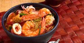 Retete asiatice - Supa Kimchi cu fructe de mare (4 portii)