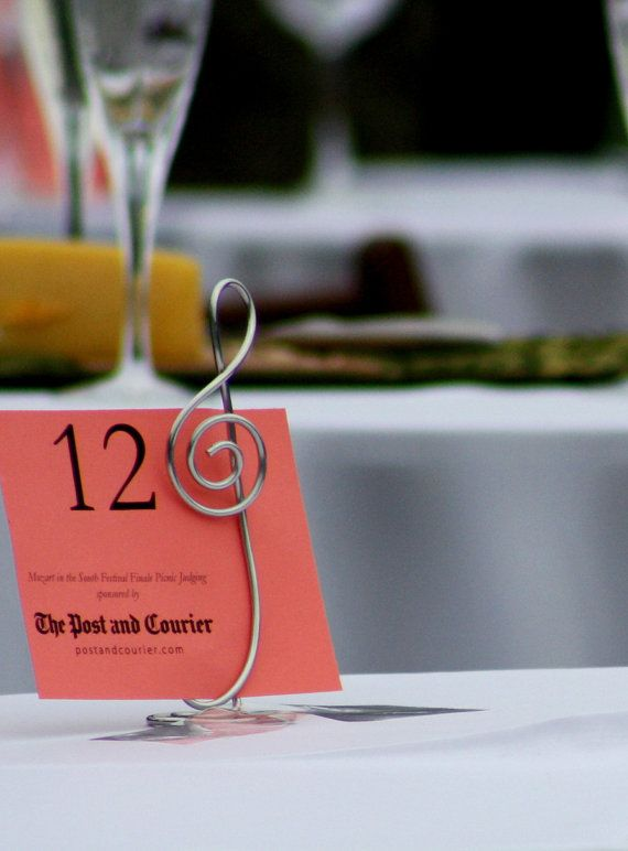Treble Clef Table Number Stands Musician by HomesAndWeddings