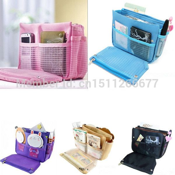 Nylon Organizer Clutch Purse Handbag Collection Organiser MP3 Phone Cosmetic Travel Multi Storage Bags be $2.94 (free shipping)
