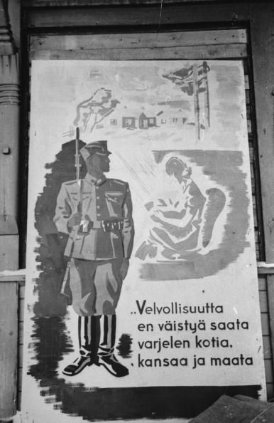 Finnish poster urging patriotism during war with Russia