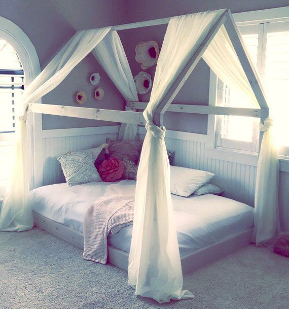 House Bed Frame Twin Full Or Queen Made In Us Etsy House Frame Bed