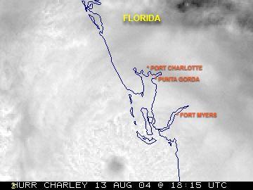 Hurricane Charley 10 Year Anniversary, Landfall, 8-13-04.