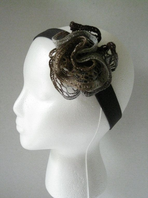 Women's or teens sashay ruffle yarn headband by TheStylishHatter, $4.99