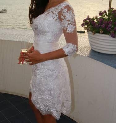 vestido de noiva curto - vestidos de festa marco tarragô