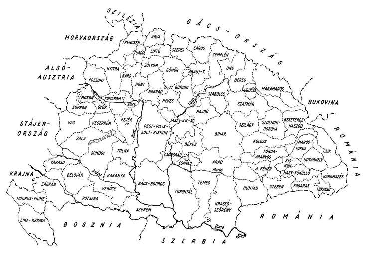 Magyarország vármegyéi 1867 után
