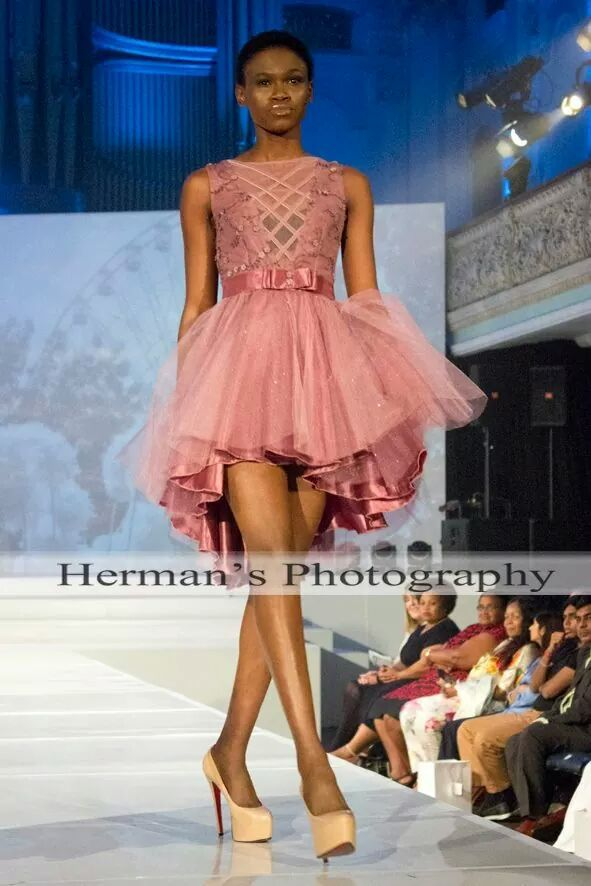 Stunning in Pink dress by Brenda Waring, Whatevs designs