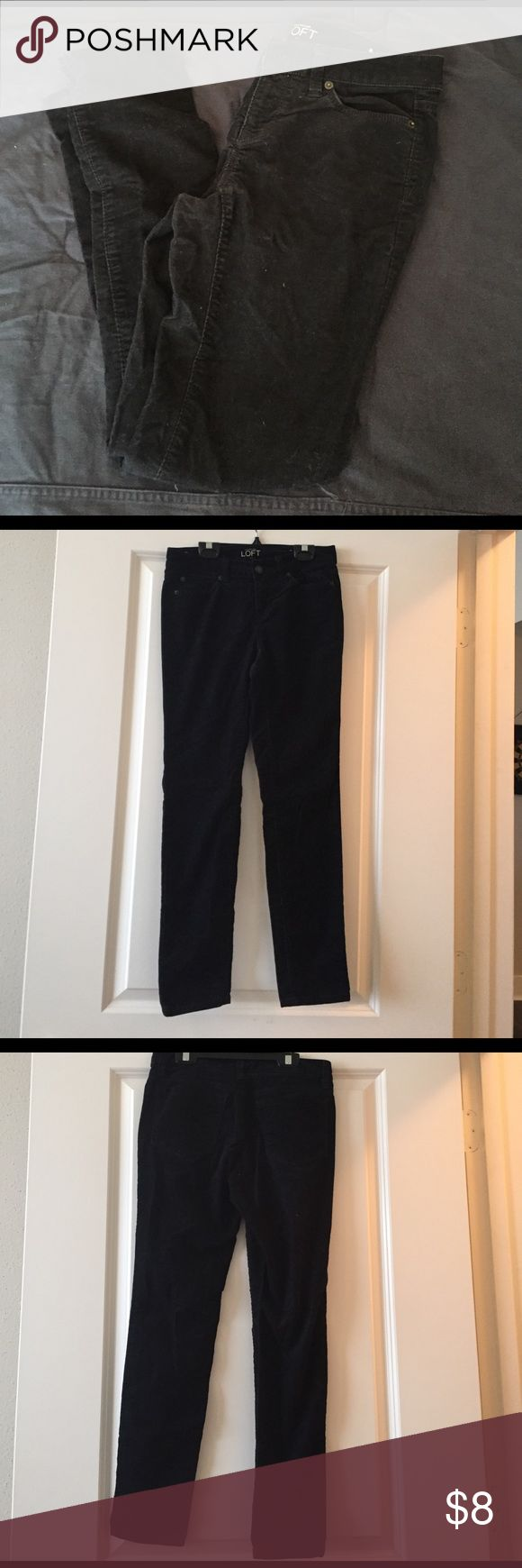 ❄️Winter Sale!❄️ LOFT black corduroys OP Trying to get rid of all our winter clothes so feel free to bundle and make an offer, willing to negotiate! Good condition, no tears, holes, or stains. Let me know if you have any questions! LOFT Pants