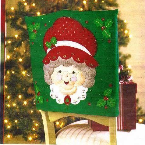 Molde cubresilla Señora Claus