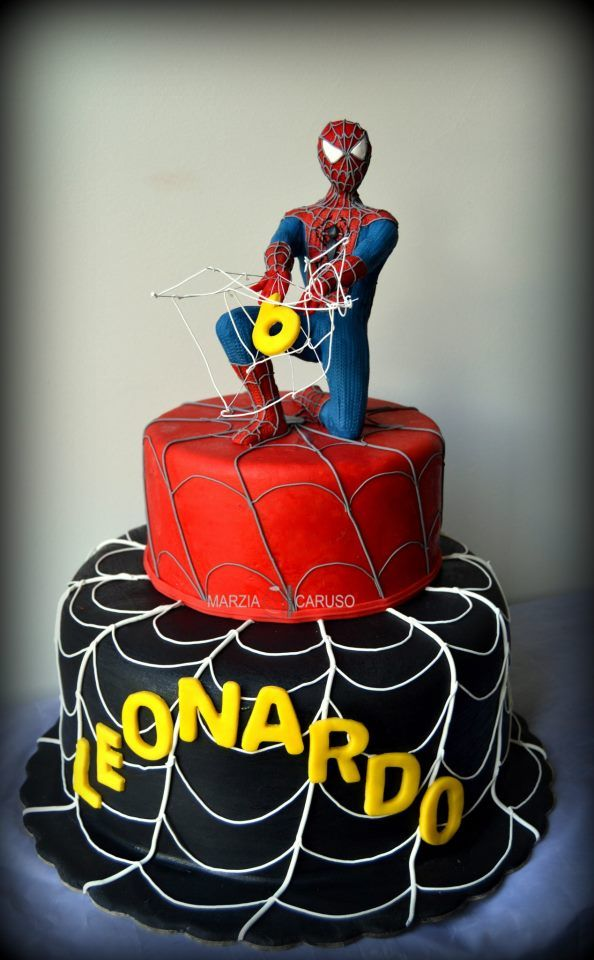 Spider-Man Cake - letters for the name