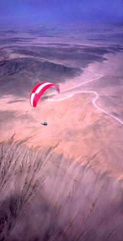 Sobrevolando enl desierto de Atacama Chile