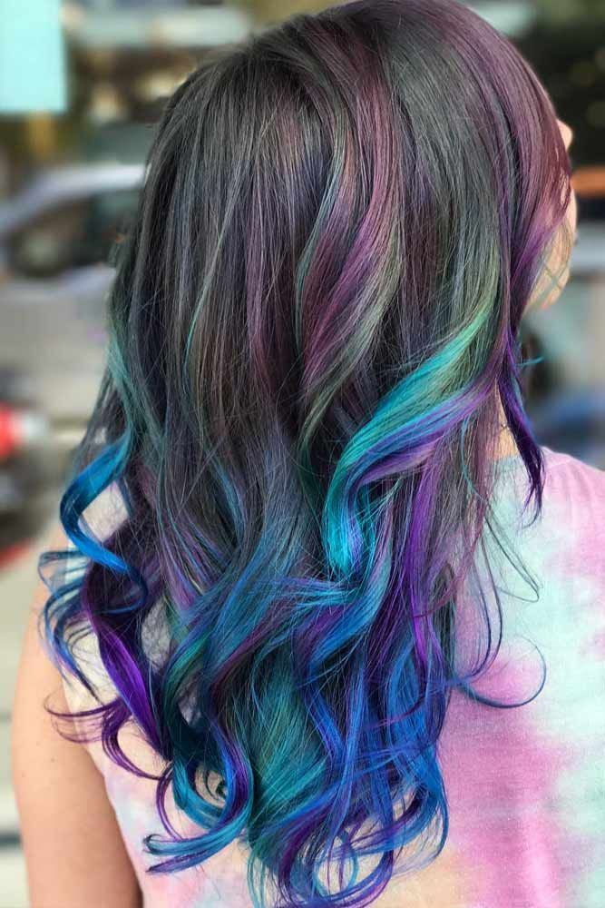 24 Blue And Purple Hair Looks That Will Amaze You Mermaid Hair Color Natural Hair Styles Natural Hair Color
