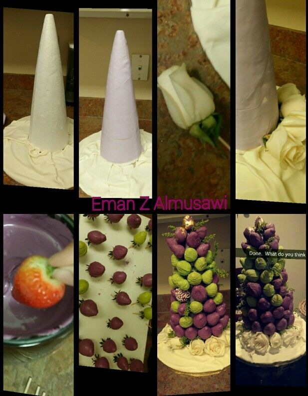How to make chocolate covered strawberries tower