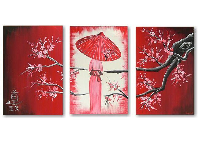 Figuratieve kunst � Schilderij Geisha 2