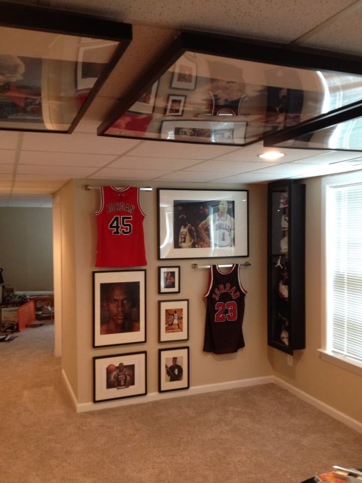 Ordinary Sports Basement Ideas Part - 5: Chicago Bulls Man Cave More