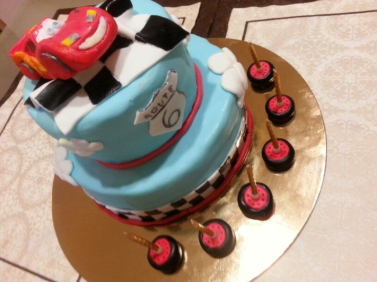 Cake#cars#cartoon#boy#racing#kids#route#chocolate#vanilla#Czech#miss.enemy