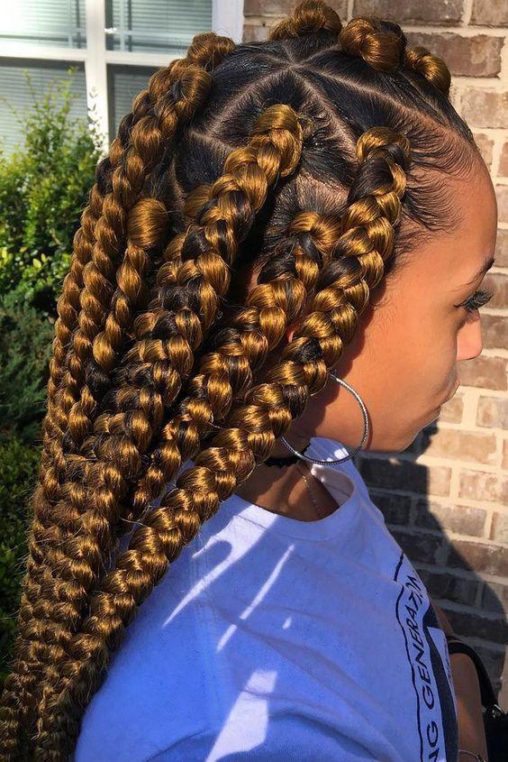 Inspiration: 15 façons de porter des tresses géantes cet été – Mon coiffeur Afr …